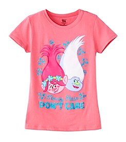 DreamWorks Trolls™ Girls' 7-16 Trolls Messy Hair Short Sleeve Tee