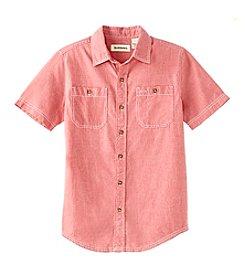 Ruff Hewn Boys' 8-20 Short Sleeve Chambray Shirt