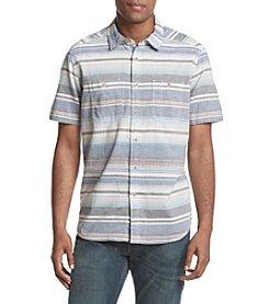 Ruff Hewn Men's Short Sleeve Striped Workshirt