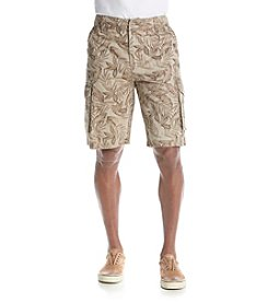 Ruff Hewn Men's Tropical Print Cargo Shorts