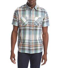 Ruff Hewn Men's Short Sleeve Yard Dyed Textured Workshirt