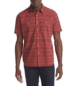 Ruff Hewn Men's Short Sleeve Double Pocket Button Down Shirt