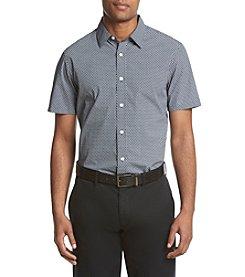 Michael Kors® Men's Short Sleeve Tailored Fit William Print Button Down Shirt