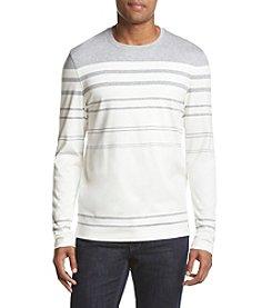 Michael Kors® Men's Long Sleeve Engineered Stripe Crew Neck Sweater
