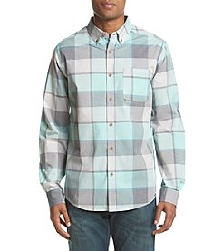 Ocean Current® Men's Long Sleeve Textured Plaid Button Down Shirt