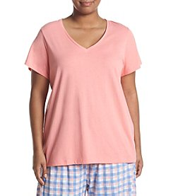 HUE® Plus Size V-Neck Pajama Top