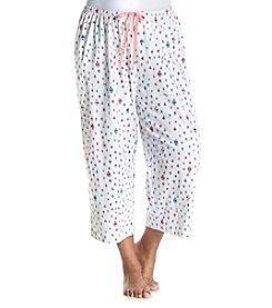 HUE® Plus Size Ladybug Pajama Capris