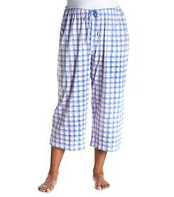 HUE® Plus Size Plaid Pajama Capri