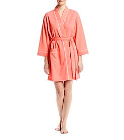 Jasmine Rose® Short Robe With Trim