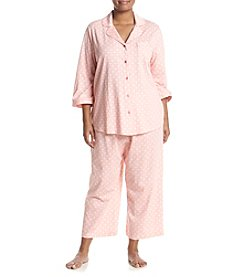 Intimate Essentials Plus Size Capri Pajama Set