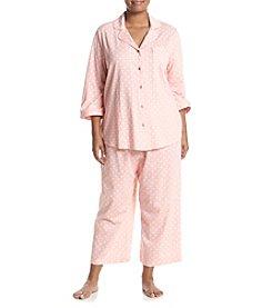 Intimate Essentials Plus Size Capri Pajama Set