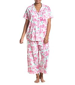 Intimate Essentials® Plus Size Notch Collar Capri Pajama Set