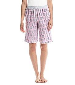 KN Karen Neuburger Pineapple Pajama Bermunda Shorts