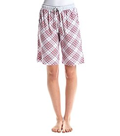 KN Karen Neuburger Plaid Pajama Bermuda Shorts