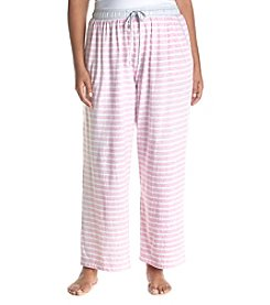 KN Karen Neuburger Plus Size Stripe Pajama Pants
