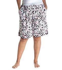 KN Karen Neuburger Plus Size Floral Pajama Bermuda