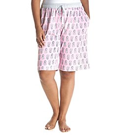 KN Karen Neuburger Plus Size Pineapple Pajama Bermuda Shorts