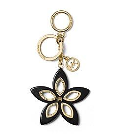 MICHAEL Michael Kors Black Flora Grommet Keychain