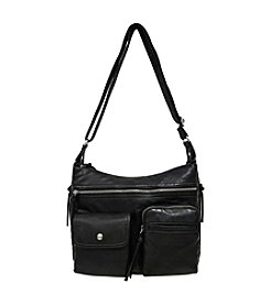 GAL Grainy Front Pocket Hobo Crossbody