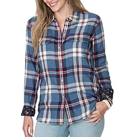 Chaps® Plus Size Stream Plaid Twill Workshirt