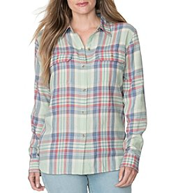 Chaps® Plus Size Windsor Plaid Twill Workshirt