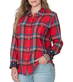 Chaps® Plus Size Telluride Plaid Twill Shirt