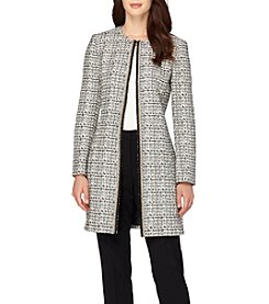 Tahari ASL® Long Zip Front Jacket