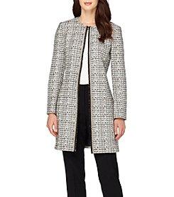 Tahari® Long Zip Front Jacket
