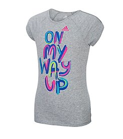 adidas® Girls' 2T-6X On My Way Up Short Sleeve Tee