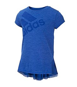 adidas® Girls' 2T-6X Melange Short Sleeve Top