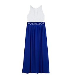 Amy Byer Girls' 7-16 Maxi Dress With Embellished Belt