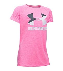 Under Armour® Girls' 7-16 Novelty Big Logo Short Sleeve Tee