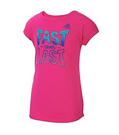 adidas® Girls' 2T-6X Fast Never Last Short Sleeve Tee
