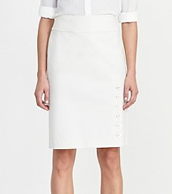 Lauren Ralph Lauren® Button Trim Skirt