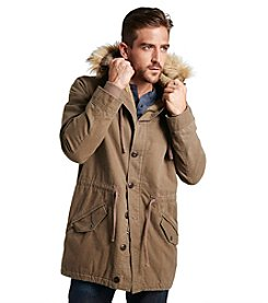 Weatherproof® Men's Sherpa Lined Hooded Duster