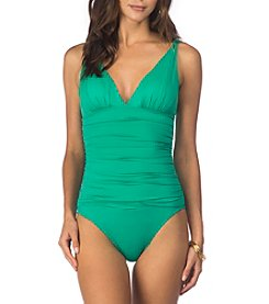 Lauren Ralph Lauren® Solid Loop Mio One Piece