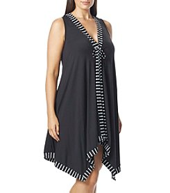 Coco Reef® Plus Size Stripe Scarf Cover Up