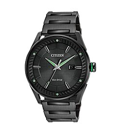 Citizen® Men's Eco-Drive Black and Green Watch