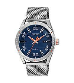 Citizen® Men's Eco-Drive Mesh Bracelet Watch