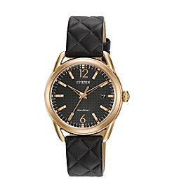 Citizen® Women's Eco-Drive Leather Strap Watch