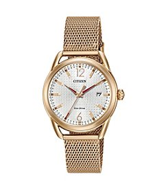 Citizen® Women's Eco-Drive Mesh Bracelet Watch