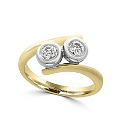 Effy® 14K White and Yellow Gold Diamond Ring