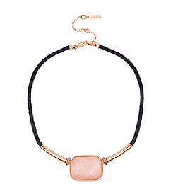 Kenneth Cole® Rose Quartz Stone Collar Necklace