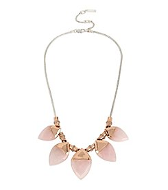 Kenneth Cole® Rose Quartz Stone Frontal Necklace