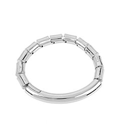 Kenneth Cole® Silvertone Bar Bracelet