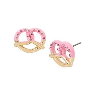 Betsey Johnson® Pretzel Stud Earrings