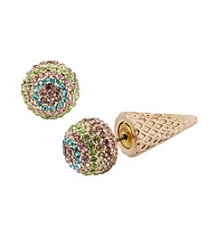 Betsey Johnson® Pave Ice Cream Cone Ear Jackets