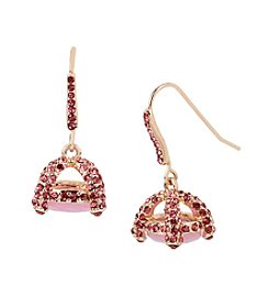 Betsey Johnson® Pave Cage Drop Earrings