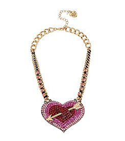 Betsey Johnson® Heart and Arrow Frontal Necklace