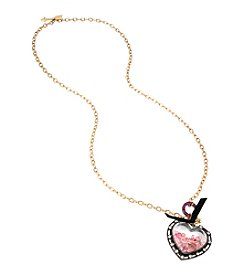 Betsey Johnson® Heart Pendant Necklace